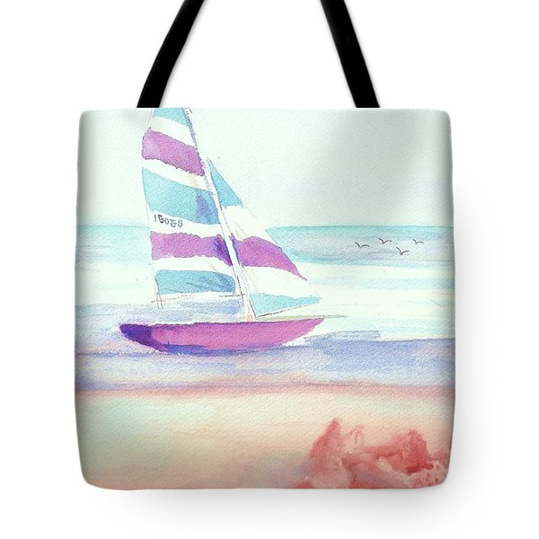 Tote Bag featuring the painting Sail Away by Denise Fulmer