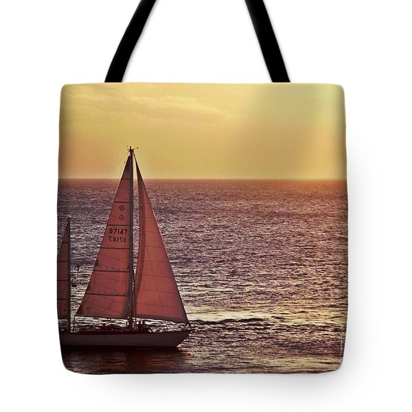 Sail Away Tote Bag by Maria Arango
