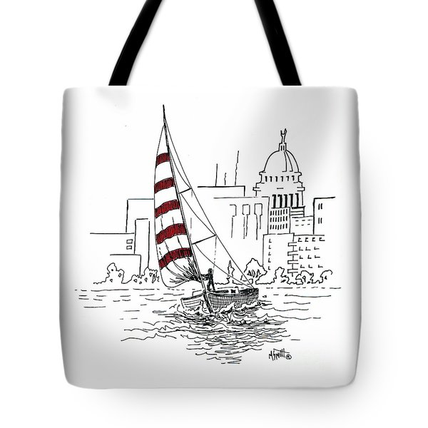 Sail Away Tote Bag by Marilyn Smith
