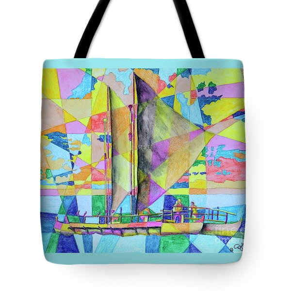 Sail Away Sunset Tote Bag
