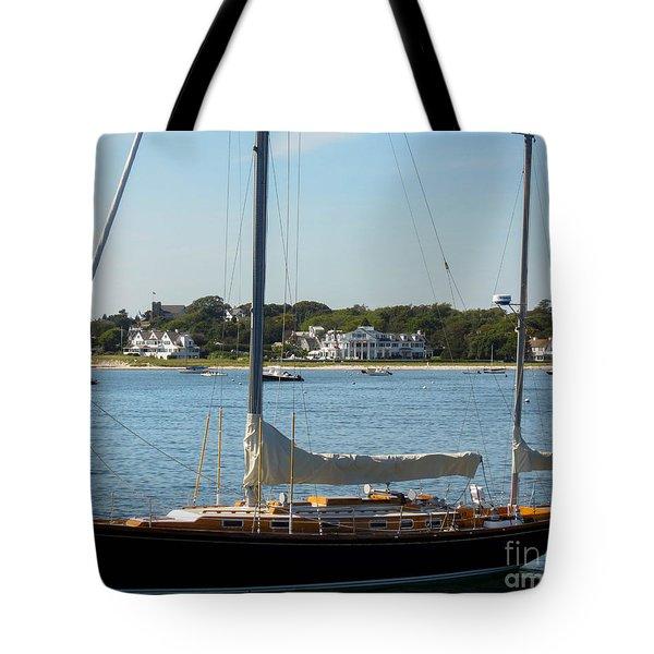 Sail Boat At Hyannis Tote Bag