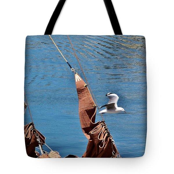Sail Boat Tote Bag by Werner Lehmann