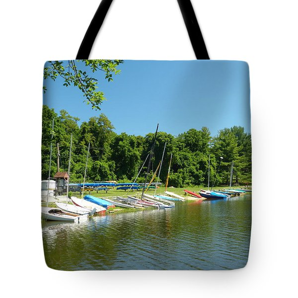 Tote Bag featuring the photograph Sail Boats At Rest by Donald C Morgan