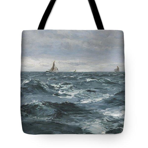 Sail On A Rough Sea Tote Bag