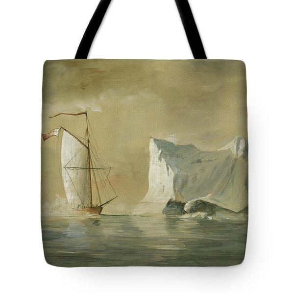 Sail Ship At The Ice Tote Bag