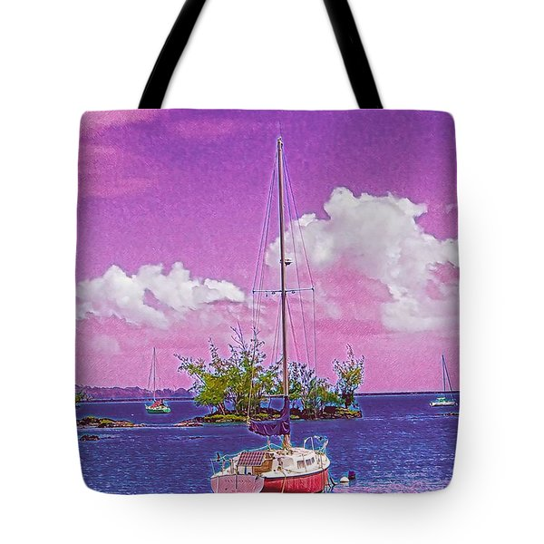 Sailboat At Reeds Bay Hilo Aloha Tote Bag