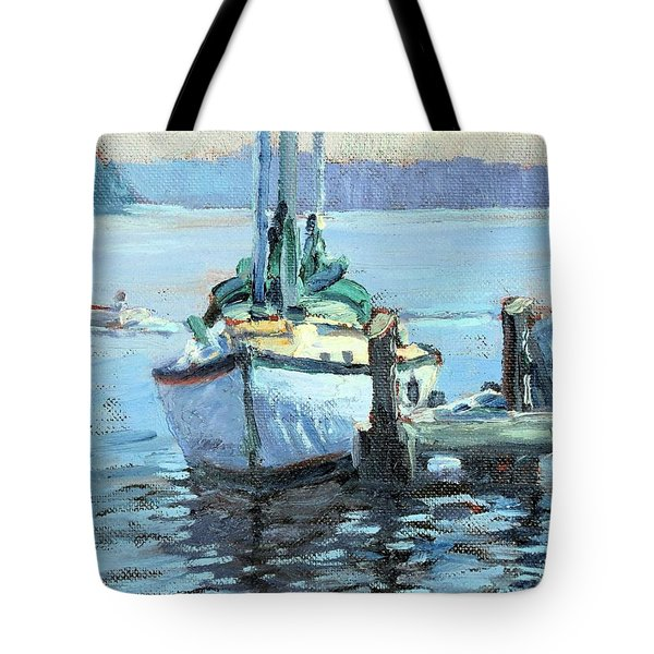Sailboat At Rest Tote Bag