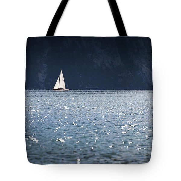 Tote Bag featuring the photograph Sailboat by Chevy Fleet