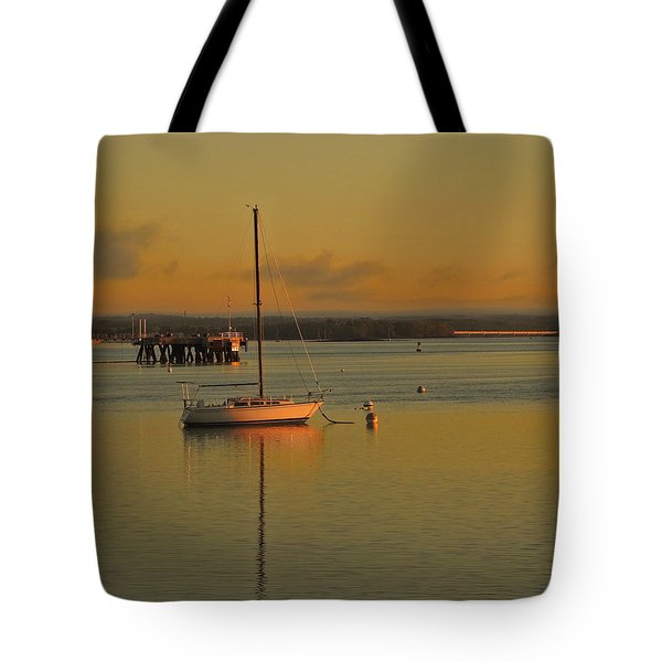 Sailboat Glow Tote Bag