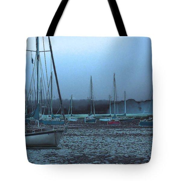 Sailboat Harbor Tote Bag by Karol Livote