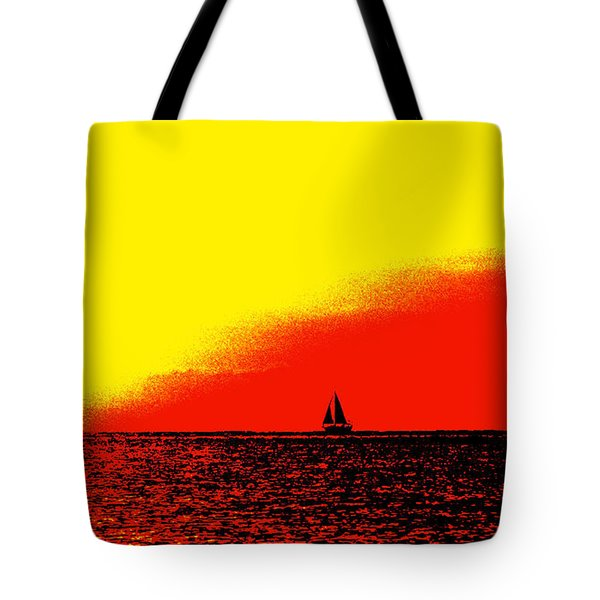 Sailboat Horizon Poster Tote Bag