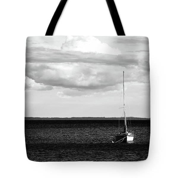 Tote Bag featuring the photograph Sailboat In The Bay by Onyonet  Photo Studios