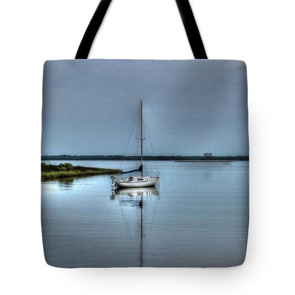Sailboat Off Plash Tote Bag
