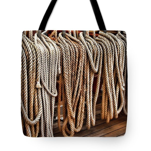 Sailboat Ropes And Deck Tote Bag