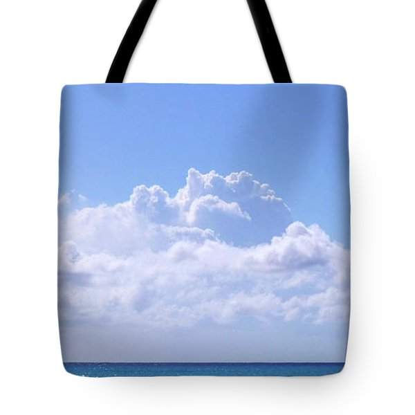Tote Bag featuring the photograph Sailboat Sea And Sky M5 by Francesca Mackenney