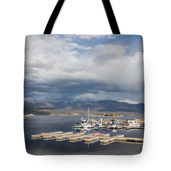Sailboat Slips On Lake Granby In Grand County Tote Bag by Carol M Highsmith
