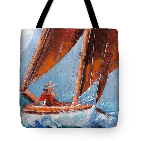 Sailboat Therapy Tote Bag by Trina Teele