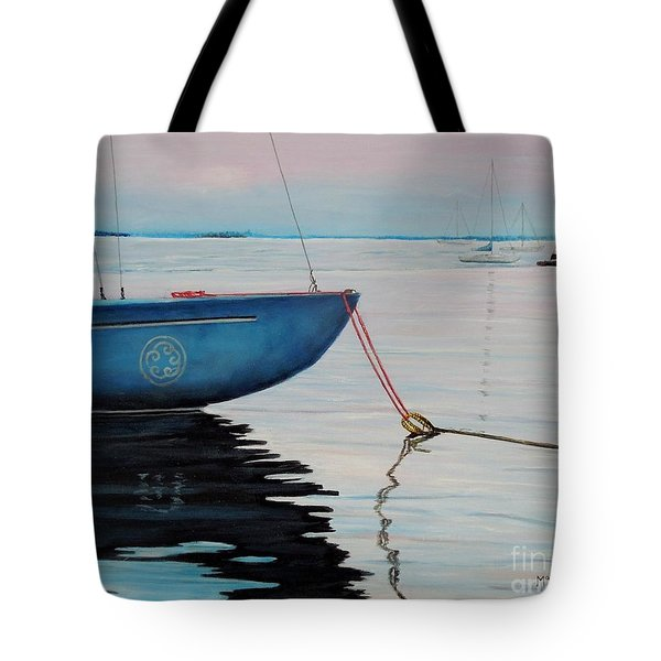 Sailboat Tied Tote Bag by Marilyn  McNish