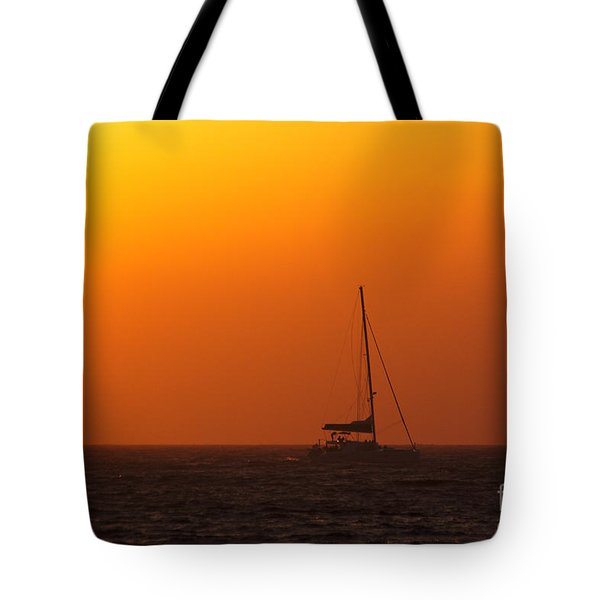 Tote Bag featuring the photograph Sailboat Waiting by Jeremy Hayden