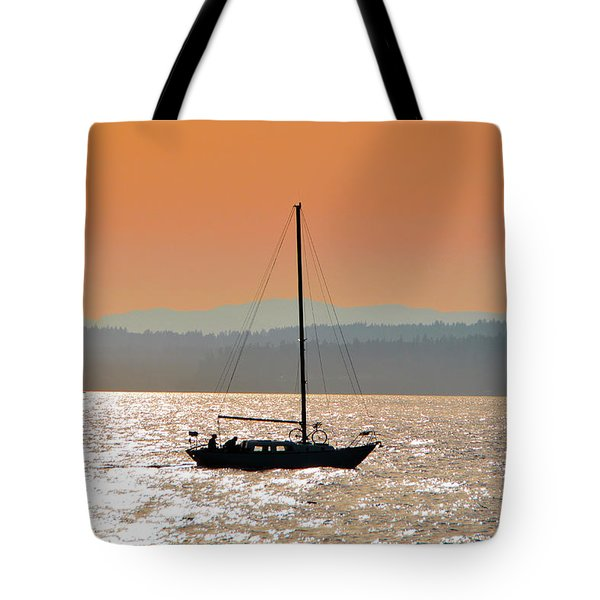 Sailboat With Bike Tote Bag