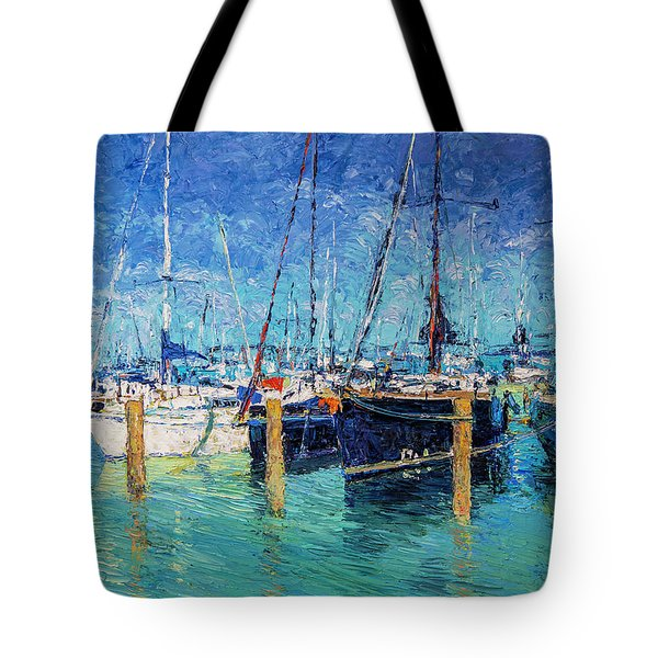 Sailboats At Balatonfured Tote Bag