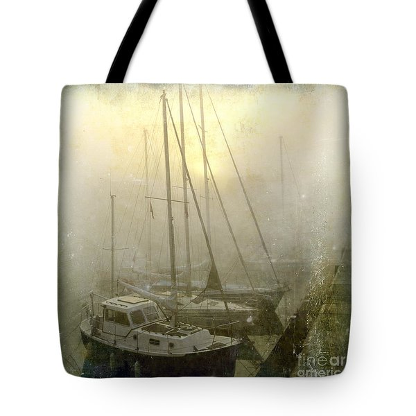Sailboats In Honfleur. Normandy. France Tote Bag