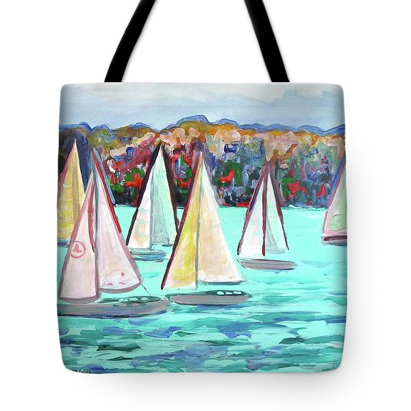 Sailboats In Spain I Tote Bag