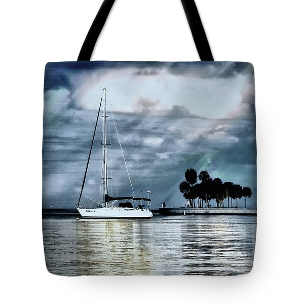 Sailboats Tote Bag by Jim Hill
