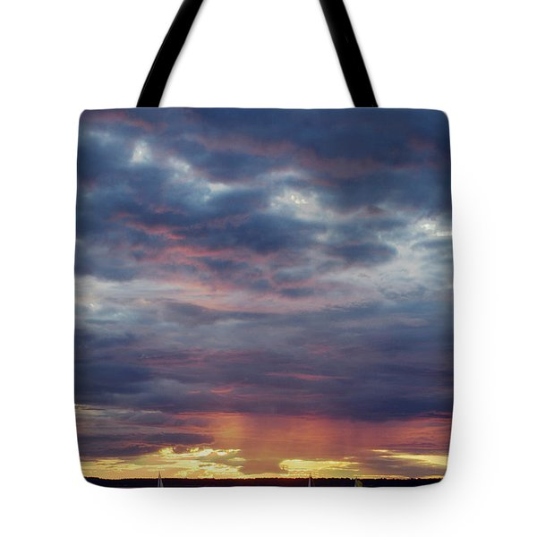 Sailboats On The Bay Tote Bag