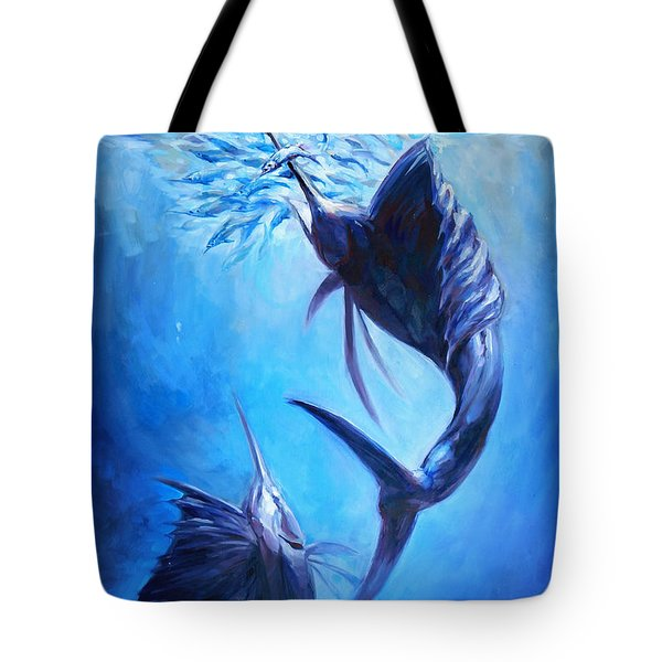 Sailfish And Ballyhoo Tote Bag by Tom Dauria