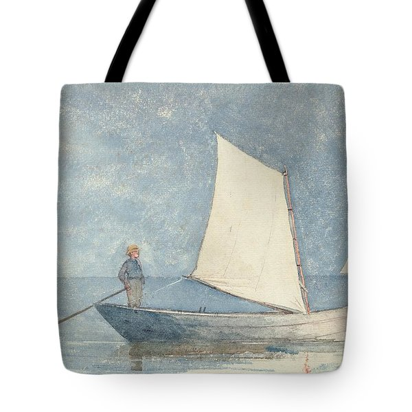 Sailing A Dory Tote Bag