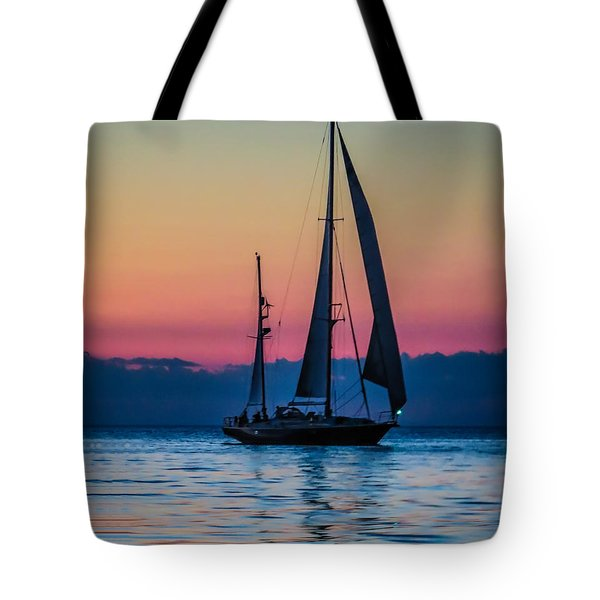 Sailing After Sunset Tote Bag