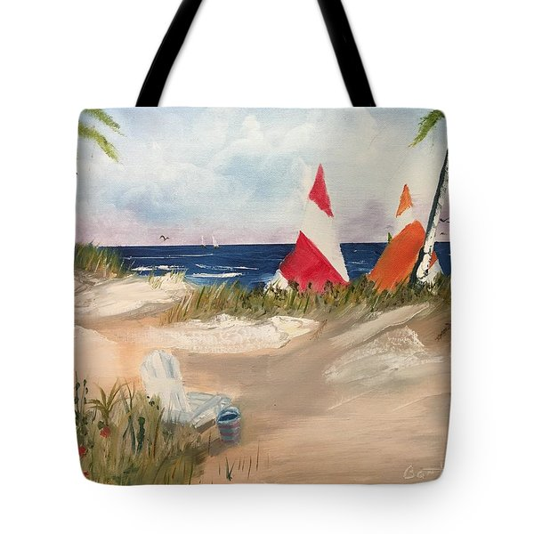 Sailing Along Tote Bag