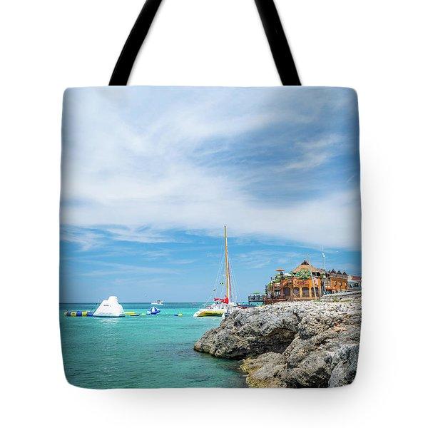 Coastline Sailing In Montego Bay Tote Bag