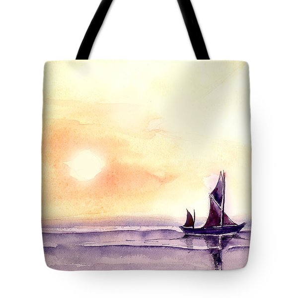 Sailing Tote Bag by Anil Nene