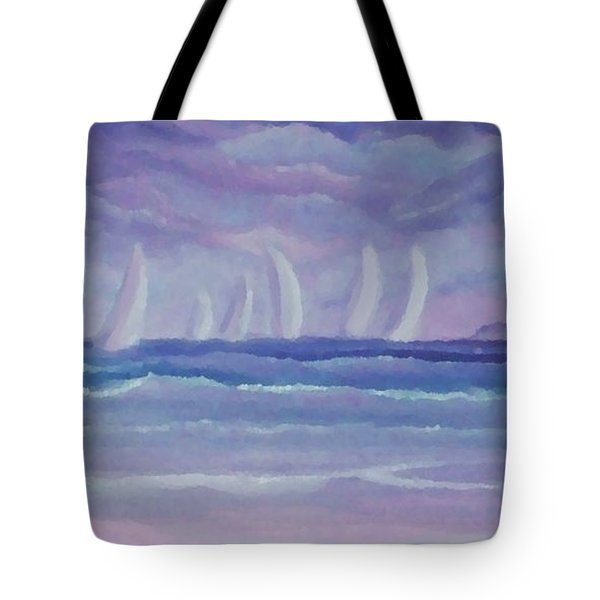 Sailing At Twilight Tote Bag
