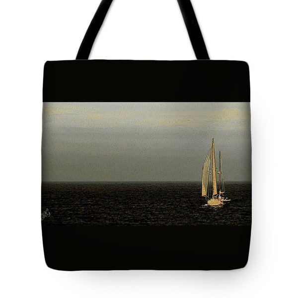 Tote Bag featuring the photograph Sailing by Ben and Raisa Gertsberg