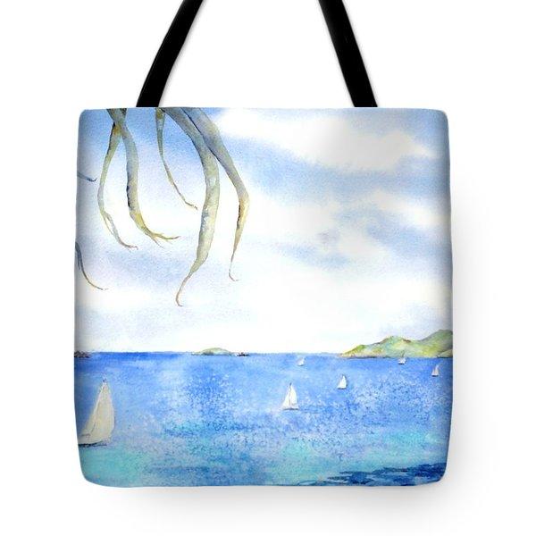 Sailing Between The Islandsd Tote Bag
