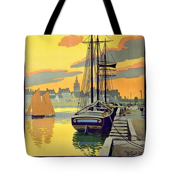 Sailing Boats, Brittany, France Tote Bag