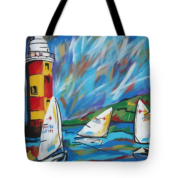 Sailing Tote Bag by Caroline Davis