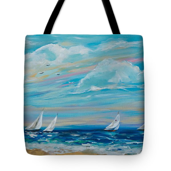 Sailing Close To The Shore Tote Bag