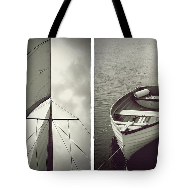Sailing Diptych Tote Bag by Patricia Strand