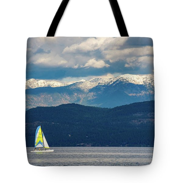 Sailing Flathead Lake Tote Bag