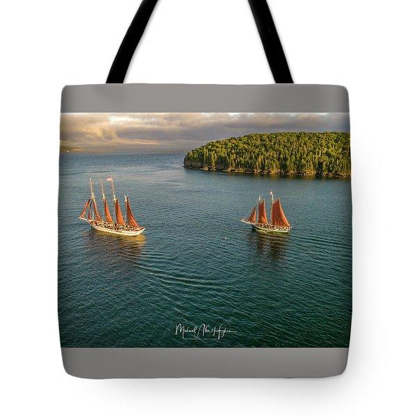 Sailing Frenchman Bay Tote Bag