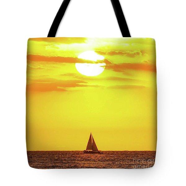 Sailing In Hawaiian Sunshine Tote Bag