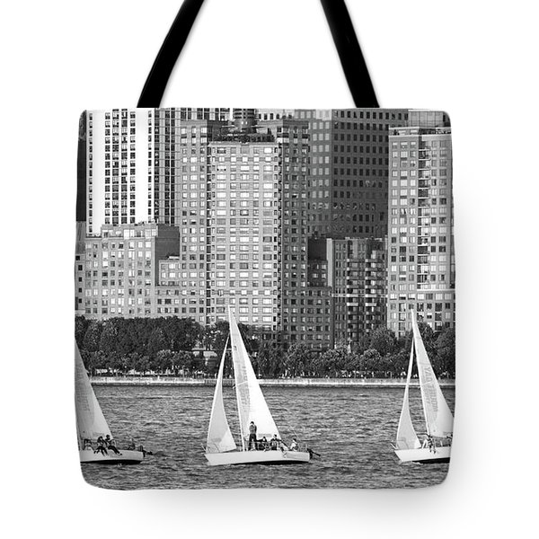 Sailing In New York Harbor No. 3-1 Tote Bag