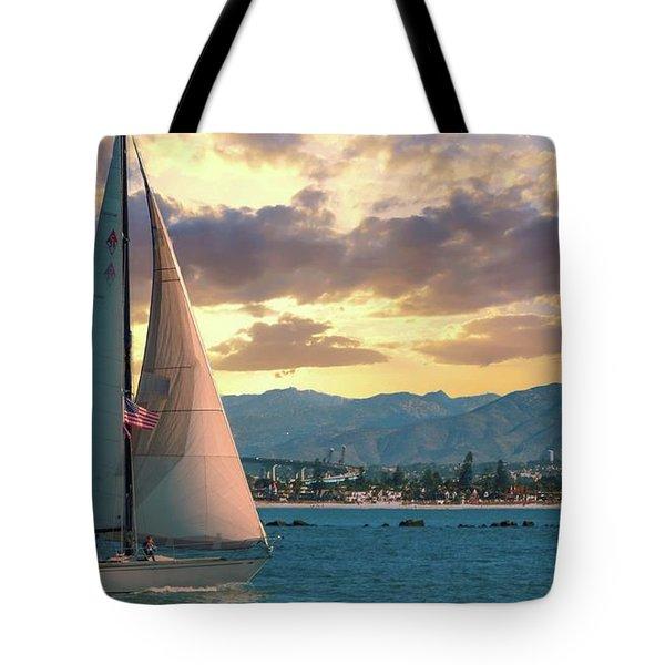 Sailing In San Diego Tote Bag