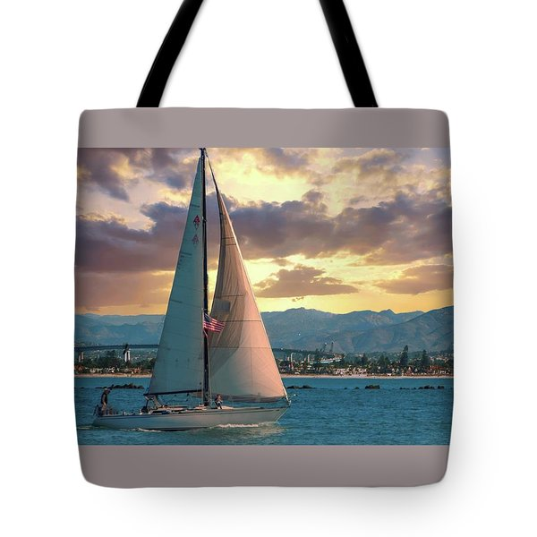 Sailing In San Diego Tote Bag