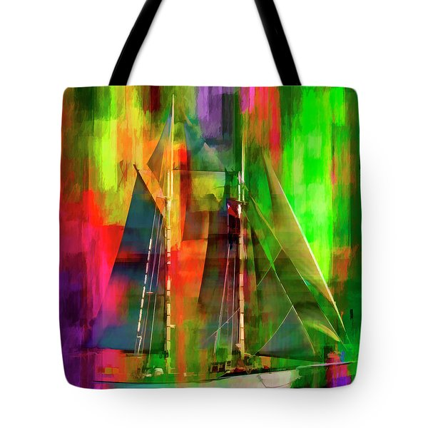 Sailing In The Abstract 2016 Tote Bag