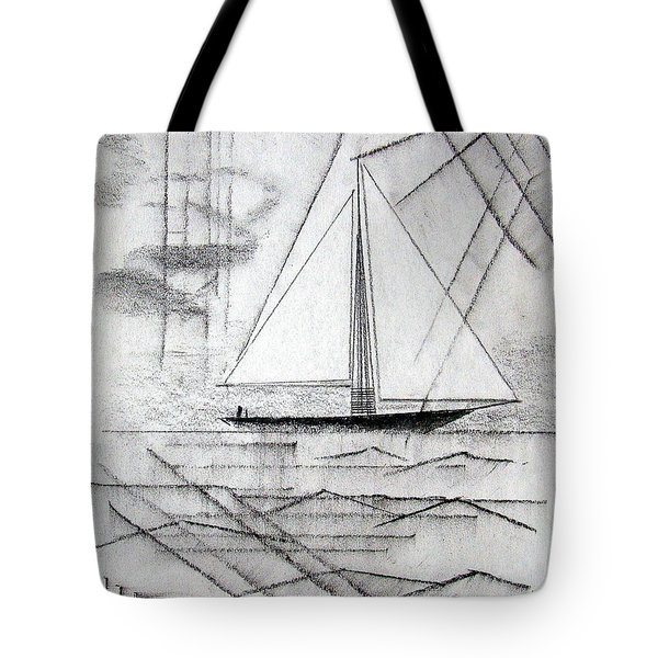 Sailing In The City Harbor Tote Bag